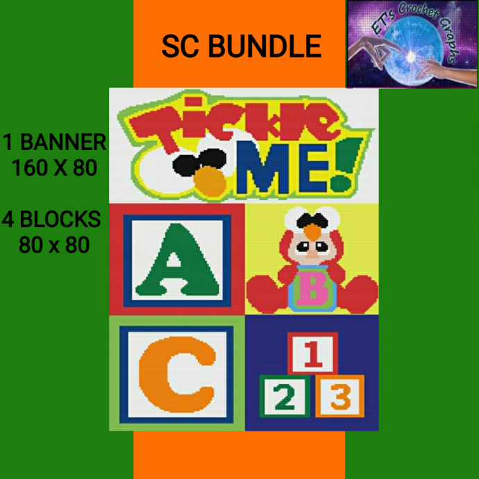 Tickle ME - SC- 5 Patterns with Graphs & Written Color Charts