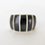 Sterling Silver Band Ring with Inlaid Black Onyx Stones - Sterling Silver