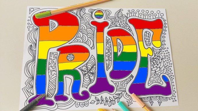 printable pride coloring page gay lgbt lgbtq lesbian valentines day colouring
