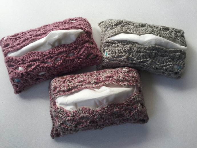 Purse-size Tissue Cases, Travel Tissue Cozies, Pocket Tissue Covers