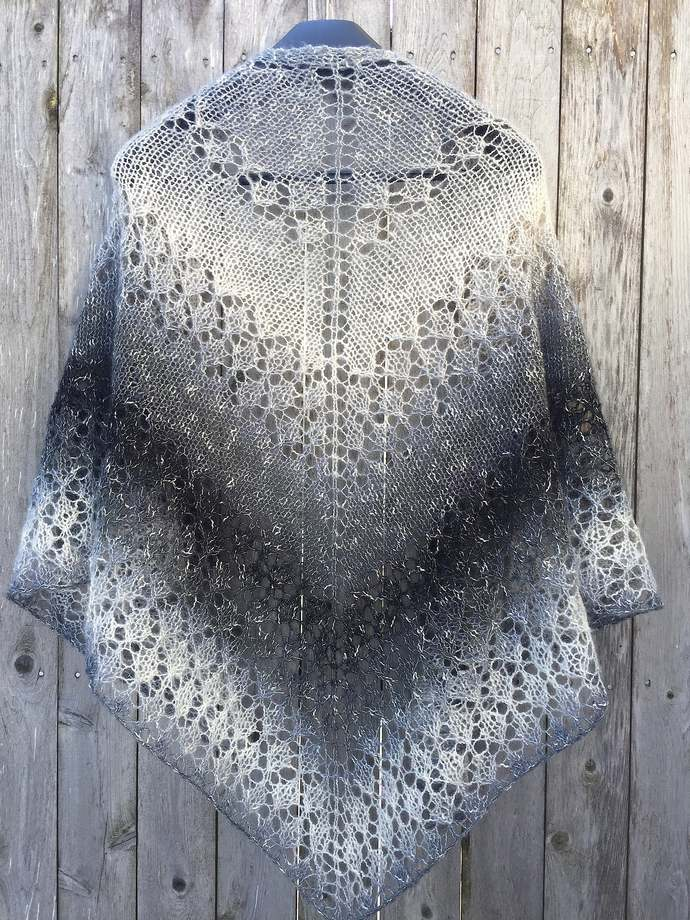 Elegant Knitted Lace Shawl