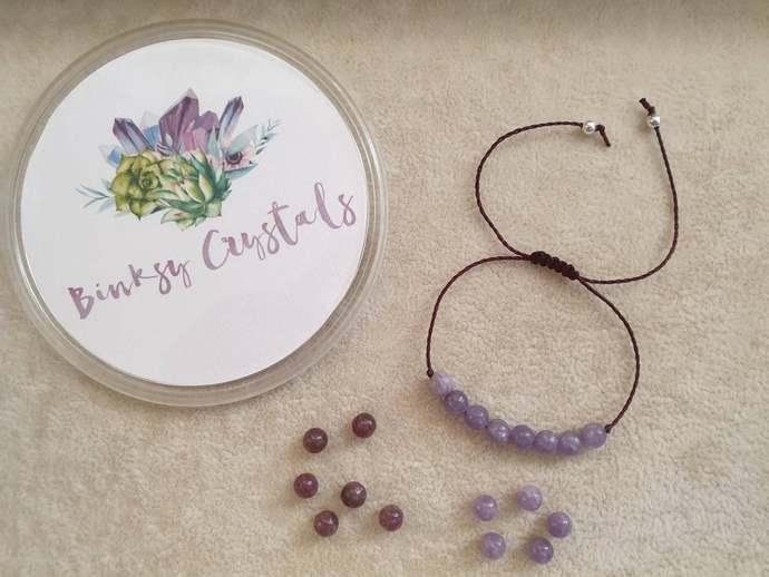 Kunzite Tourmaline bracelet | Heart Chakra ~ emotional healing ~ releasing