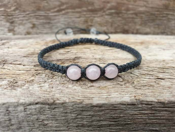 Rose Quartz Shambala Bracelet | deep inner healing ~ feelings of peace ~ dispels