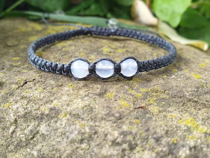 Blue Lace Agate Shambala Bracelet | cooling and calming ~ peace and tranquility