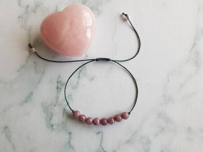 Pink Tourmaline bracelet | promotes self~confidence ~ diminishes fear ~