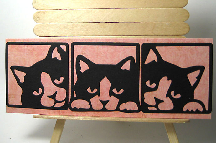 3pc Framed Cat Cutting Die Set
