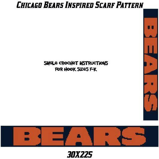 Bears Scarf Crochet Graph Pattern