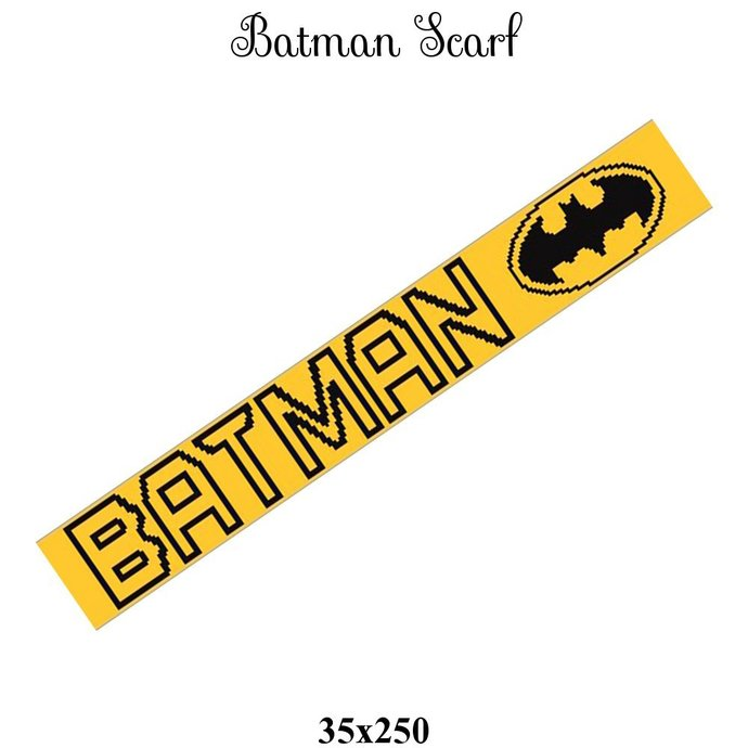 Batman Scarf Crochet Graph Pattern