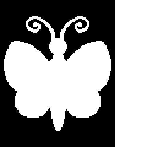 White Butterfly Silhouette C2C Crochet Pattern Twin Sz Blanket Afghan