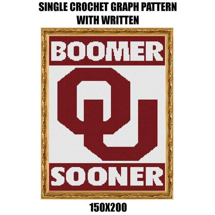 Boomer Sooner Blanket Crochet Graph Pattern