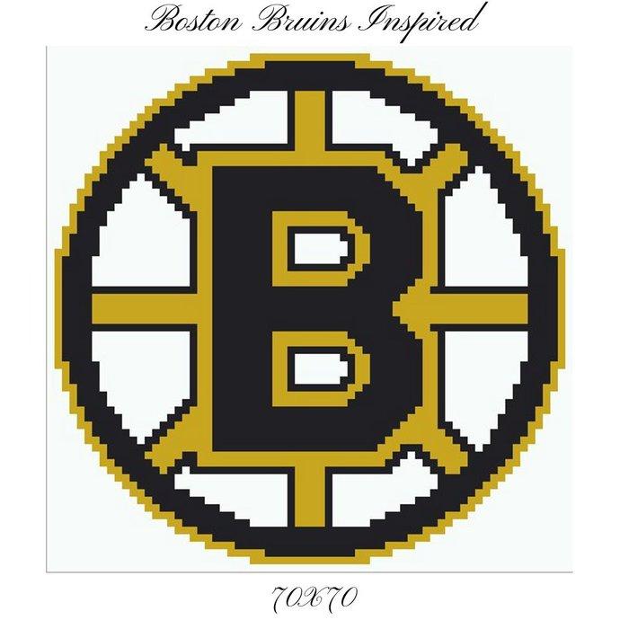 Boston Bruins Pillow Crochet Graph Pattern