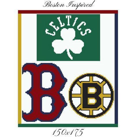 Boston Teams Blanket Crochet Graph Pattern
