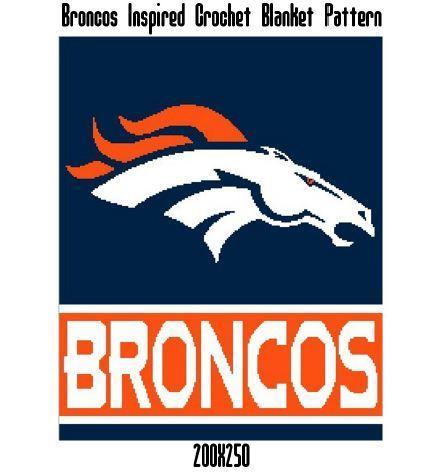 Broncos Blanket Crochet Graph Pattern