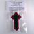 Christian Cross Ornament in Black Red White