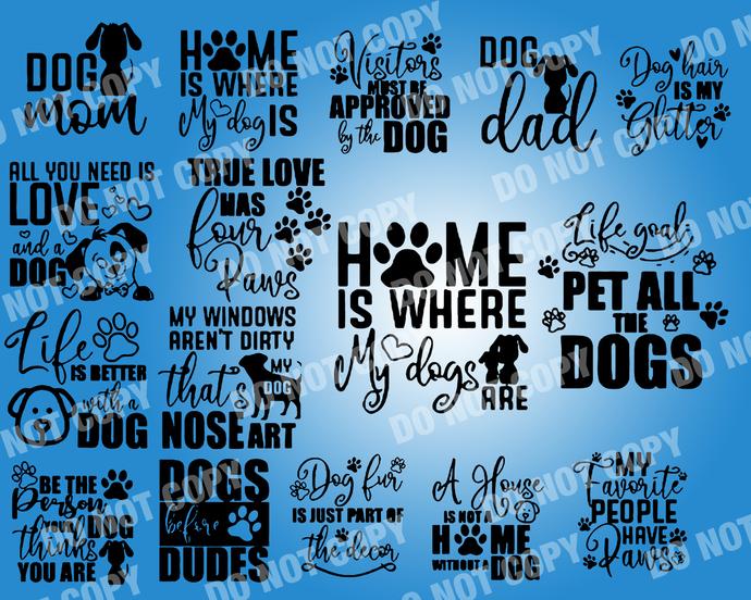Dog Lover Quote SVG, digital file,svg clipart,Cut File