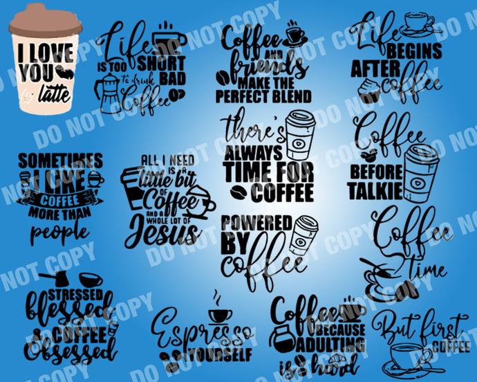 Coffee Quote SVG, digital file,svg clipart,Cut File