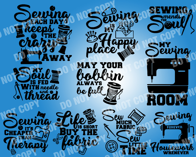Sewing Quote SVG, digital file,svg clipart,Cut File