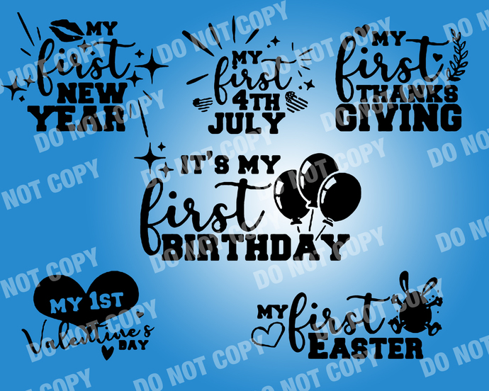 Baby First Quote SVG, digital file,svg clipart,Cut File