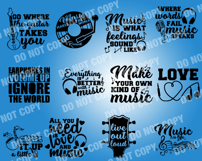 Music Quote SVG, digital file,svg clipart,Cut File