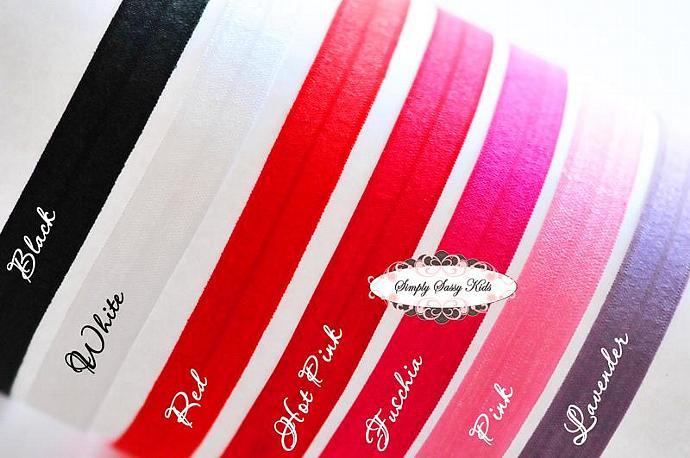 1pc ~ Hot Pink ~ Fold Over Elastic Headbands - Add Hair Flowers, Embellishments,