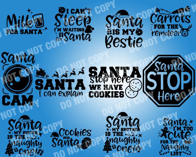 Funny Santa Quote SVG, digital file,svg clipart,Cut File