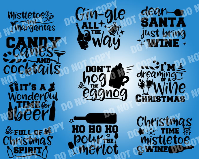 Christmas alcohol Quote SVG, digital file,svg clipart,Cut File