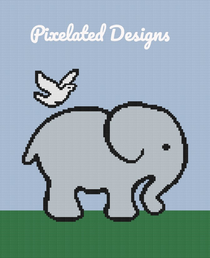 Elephant & Dove - SC - 130x160 - Graph w/Written