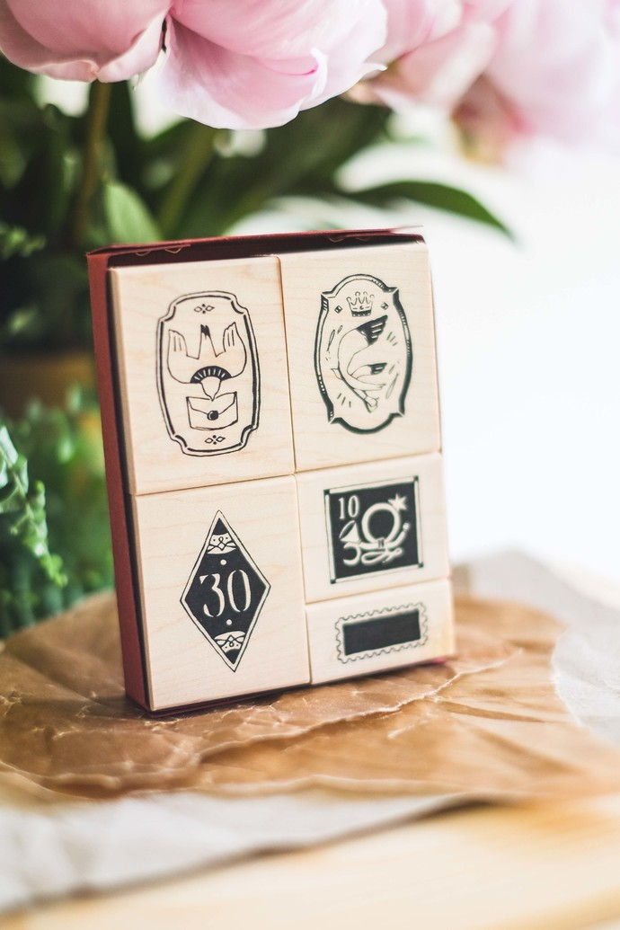OURS Postal Maple Wood Stamp Set A - perfect for journaling & happy mail
