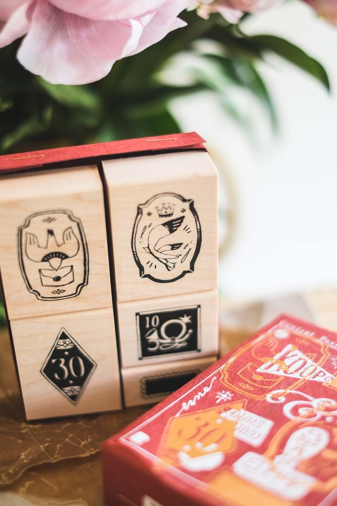 Postal Maple Wood Stamp Set - perfect for journaling & happy mail