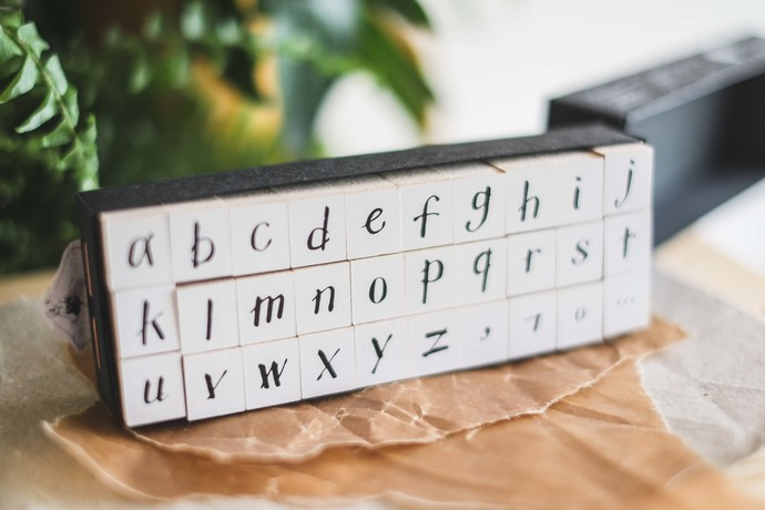 OURS My A to Z - Lowercase - DIY Rubber Stamp - perfect for journaling & happy