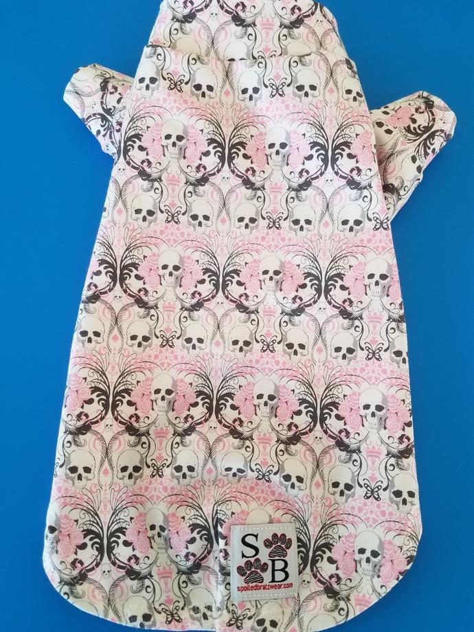 SMALL Pima cotton skulky swirl dog shirt
