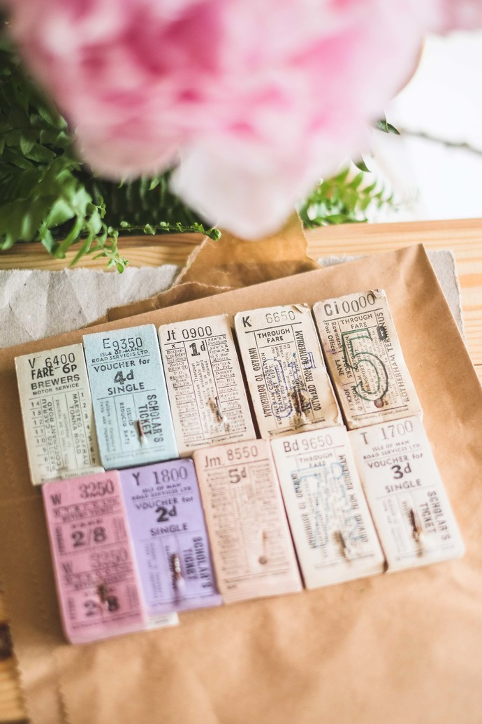 Full stacks of original vintage English / British bus tickets - perfect for