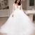 2019 V Neck Lace Wedding Dresses Long Sleeves Tulle Sweep Train A Line Long
