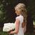 Vintage Country Wedding Dresses V Neck Cap Sleeves Floor Length Lace Wedding