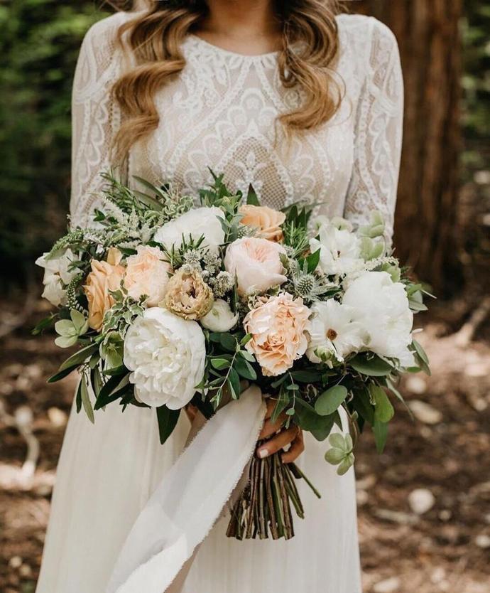 Beach Bohemian Wedding Dresses Sexy Backless Long Sleeve Country Boho Bridal