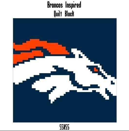 Broncos Quilt Block Crochet Graph Pattern
