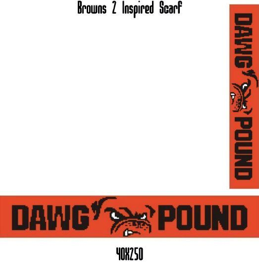 Browns Scarf Crochet Graph Pattern