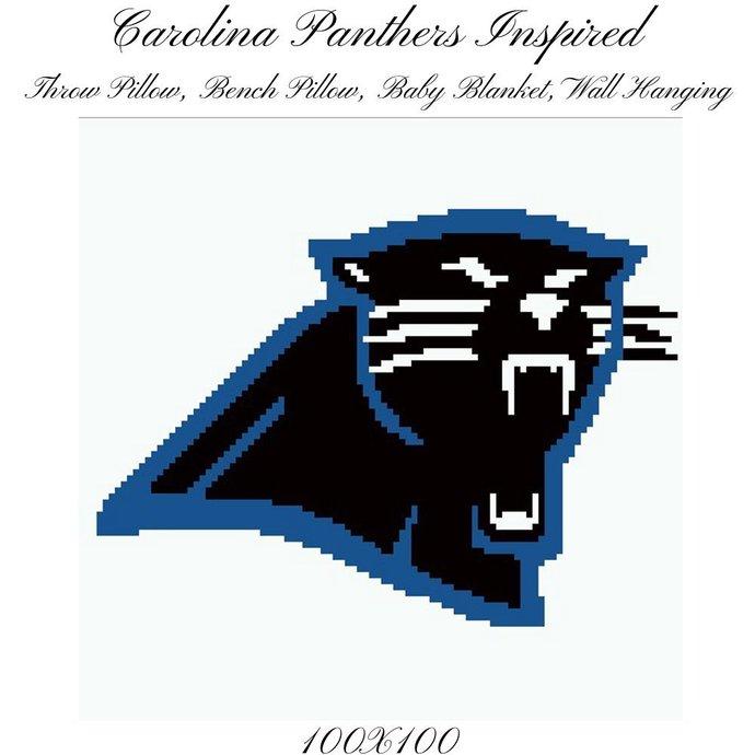Carolina Panthers Pillow Crochet Graph Pattern