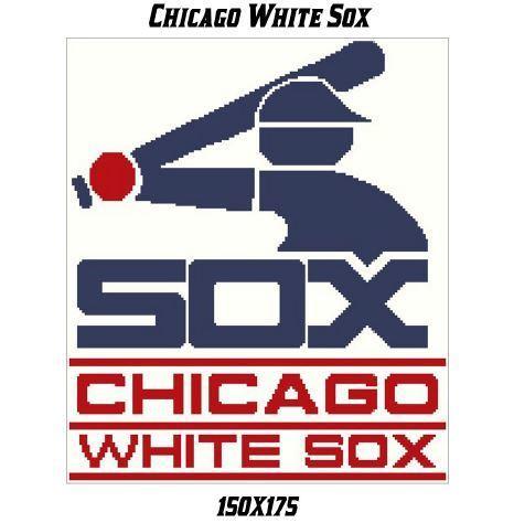 Chicago White Sox Blanket Crochet Graph Pattern