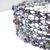 Handcrafted Violet & Blue Knit Wire Bracelet