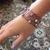 Hand-Knit Purple Wire Bracelet with Handmade Beads