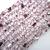 Handmade Bracelet: Silver and Pink Knit Wire Beaded Cuff Bracelet
