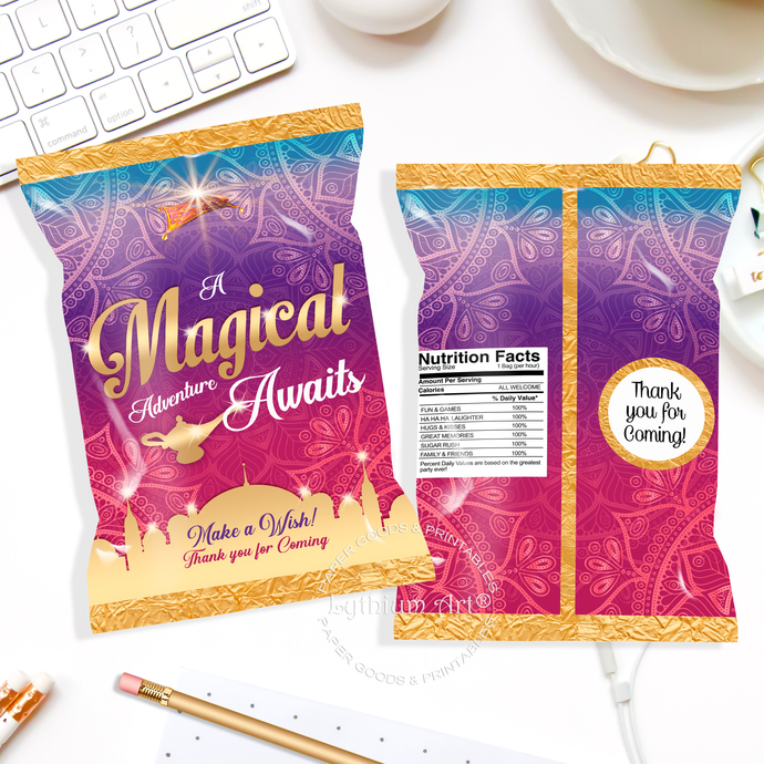 image about Popcorn Bag Printable titled Aladdin Printable Chip Bag, Instantaneous Obtain, Princess Birthday Get together Desire, Aladdin Sweet Bag, Occasion Bag, Popcorn Bag, Take care of Baggage