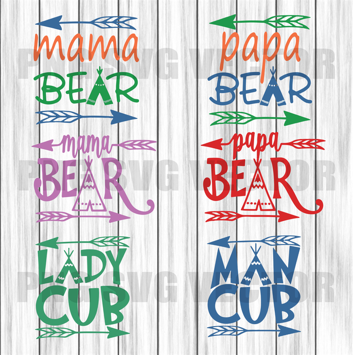 Quotes Svg, Bear Svg, Bear Family Svg, Baby Bear Cut File, Bear Bundle Svg, Bear