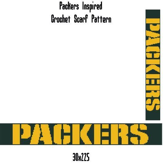 Green Bay Packers Scarf Crochet Graph Pattern