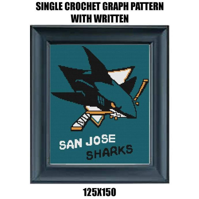 San Jose Sharks Blanket Crochet Graph Pattern