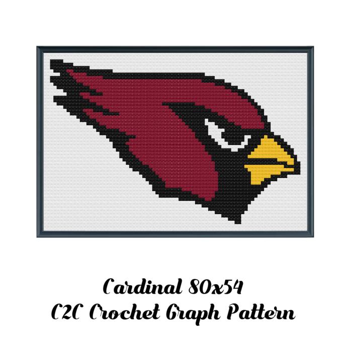 Arizona Cardinals Blanket Crochet Graph Pattern