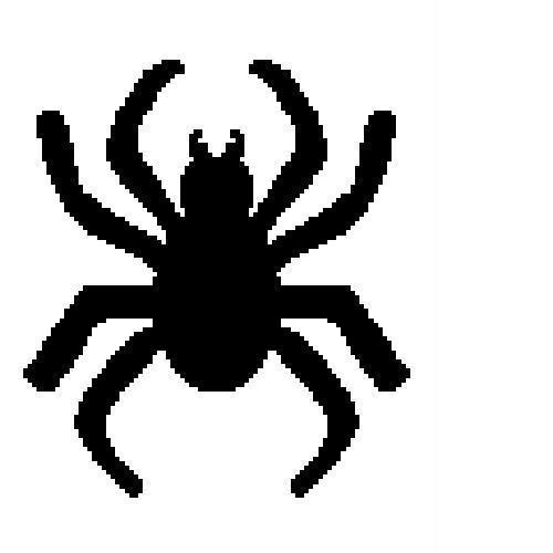 Black Spider Silhouette C2C Crochet Pattern Twin Size Blanket Afghan