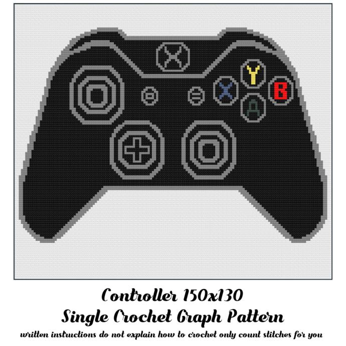 Controller Blanket Crochet Graph Pattern