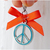 Blue Peace Sign Charm for Cat Collar, Small Dog Accessories, Pet Fashion
